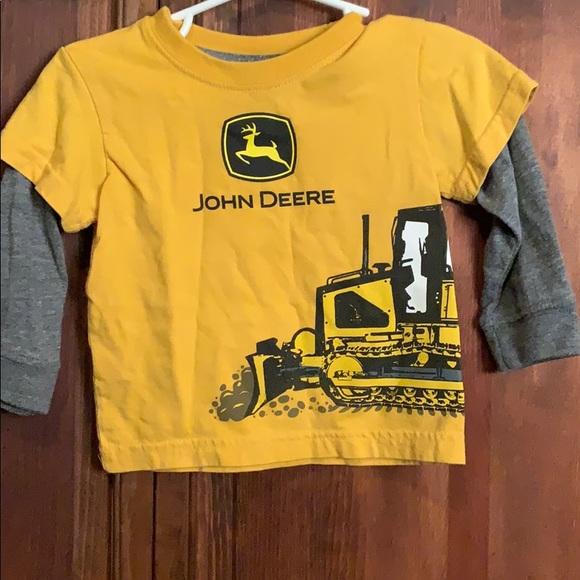 24  Months NEW John Deere Gray Long  Sleeve T-Shirt Sizes 12